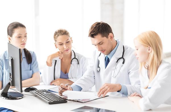 Doctors practice medical